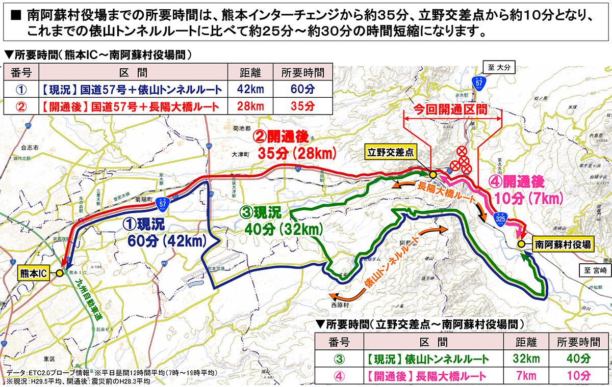 長陽大橋復旧マップ